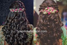 The best south indian bridal hairstyles handpicked for you to sail through your wedding day. wedding hairstyles for all face shapes South Indian Wedding Hairstyles, Wedding Hairstyles For Women, Bridal Hairstyle Indian Wedding, Hairstyles For Gowns, South Indian Bride Hairstyle, Engagement Hairstyles, Saree Hairstyles, Open Hairstyles, Indian Bridal Hairstyles