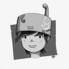 kandapati character #emha #illustration #character #grayscale