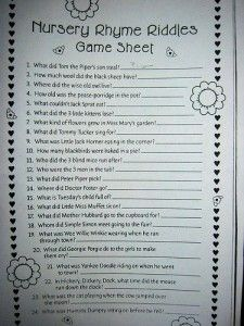 Printable Baby Shower Games | Baby Gifts & Gift Baskets BlogBaby Gifts & Gift Baskets Blog