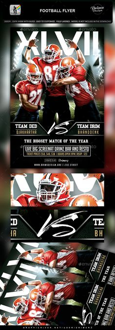 American Football Flyer Templates  Nfl Playoffs American