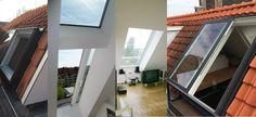 Schuifdakraam voor dak-terras of daktoegang