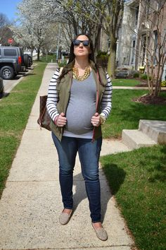A Hint of Moxie: Spiked Prep A Hint of Moxie: Spiked Prep #bumpstyle #forever21 #lv #stevemadden #jcrew #maternitystyle