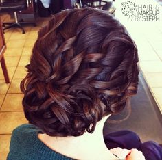 This detail shows off the subtle highlights beautifully.  So elegant!  Wedding hair updo.