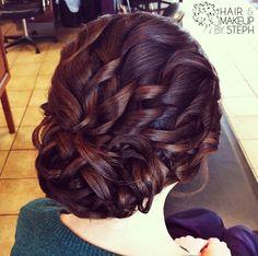 Wedding hair updo.