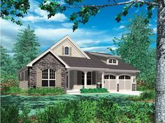 Cottage Style House Plan 3 Beds 2 5 Baths 1580 Sq Ft Plan 48 102 Craftsman House Plans Craftsman House Colonial House Plans