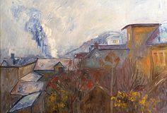 THORVALD ERICHSEN Lillehammer, Landscape Paintings, Landscapes, Paris, Autumn, Italia, Paisajes, Scenery, Montmartre Paris