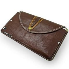 For+iPad+Mini+1/2/3+Coffee+Rotatable+Retro+Brass+Buckle+Cowhide+Leather+case+with+Holder