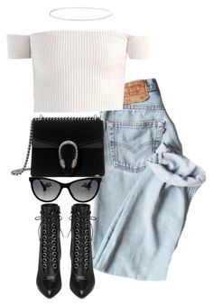 """""""Untitled #4394"""" by theeuropeancloset on Polyvore featuring Gucci, Yves Saint Laurent, Chanel and Anne Sisteron"""