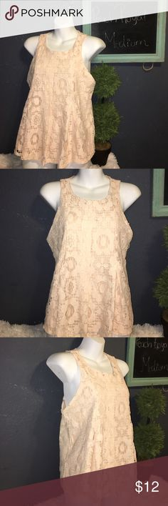 Peach Royal haltop tank top Lace Embroidered (M) Excellent condition.. brand is peach royal .. size Medium beautiful color peach royal Tops Tank Tops