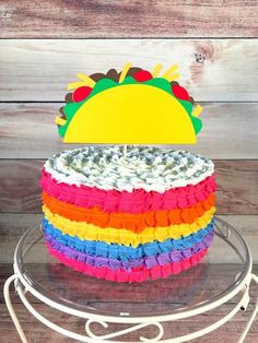 Mexican Birthday Parties, Girls Birthday Party Themes, Girl 2nd Birthday, Birthday Cakes, Taco Cake, Taco Party, Cakes For Boys, Tacos, Baby Shower Cakes