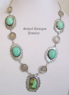 Schaef Designs mercury dime, turquoise & sterling silver old coin necklace | New Mexico