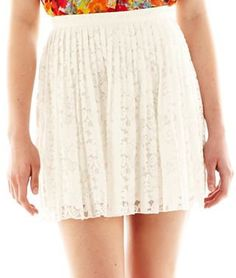 #JCPenney                 #Skirt                    #Allen #Lace #Pleated #Short #Skirt                 Allen B.� Lace Pleated Short Skirt                                            http://www.seapai.com/product.aspx?PID=1789881