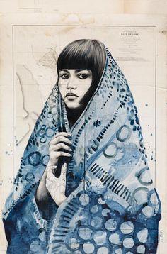 Stéphanie Ledoux - Carnets de voyage: TOILES (I LOVE her work.)