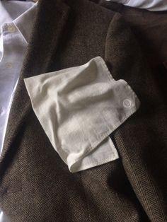 Off white cotton pocket square