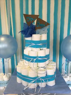 Oh Boy! Nappy Cake for a Baby Boy baby shower