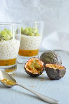 Perles du Japon, gelée de fruits de la passion et kiwi | Voyage Gourmand