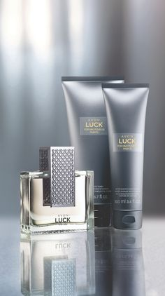Bold. Intoxicating. Cool. Just like him. Check out Avon Luck for Him, www.MrAvon.com  SPECIAL OFFER Men's Fragrance 2 for $22