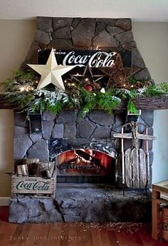 Mantel Decorating Ideas ::Love this!!