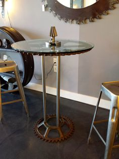 Industrial Gear Cocktail Table