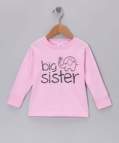Take a look at this Pink 'Big Sister' Long-Sleeve Tee - Toddler & Girls by RaR Boys on #zulily today!