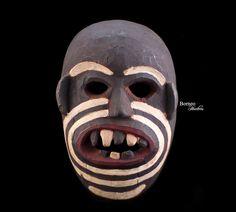 "Borneo Mask 11.5""Dayak Dance Mask-Ethnographic Artwork Primitive Tribal Artifact Borneon Longhouse Kalimantan Collectible Asian Culture by BorneoHunters on Etsy"
