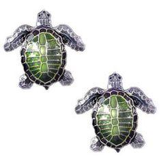 Olive Ridley Sea Turtle Post Earrings in Silver & Enamel Sea Turtle Jewelry, Turtle Earrings, Olive Ridley, Turtle Love, Silver Enamel, Special Gifts, Jewelry Gifts, Jewelry Collection, Sea Turtles