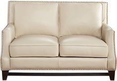 picture of Sofia Vergara Bal Harbour Beige Leather Loveseat  from Leather Loveseats Furniture