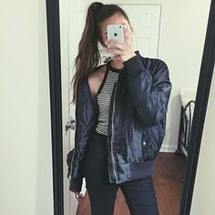 @jeanettedelmar wears our LAIN bomber jacket £20 free delivery