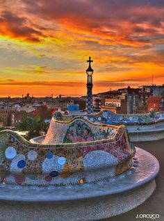Wonderful shot from Parc Guell, Barcelona Vision Direct Australia… Barcelona Hotels, Barcelona Spain Travel, Barcelona Catalonia, Gaudi Barcelona, Spain Madrid, Places Around The World, Travel Around The World, Places To Travel, Places To Go