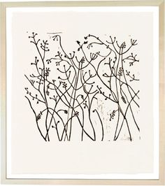 Winter Berries - lino cut by Hugo Guinness