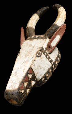 Africa | Mask from the Gurunsi people of Burkina Faso | Wood and paint