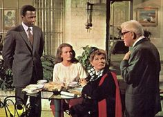 "Sidney Poitier, Katharine Houghton, Katharine Hepburn, and Spencer Tracy in ""Guess Who's Coming to Dinner"" (1967)"