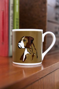 ©TANNEN_BROWN - Fine Bone China, Hand Printed Mug - Boxer