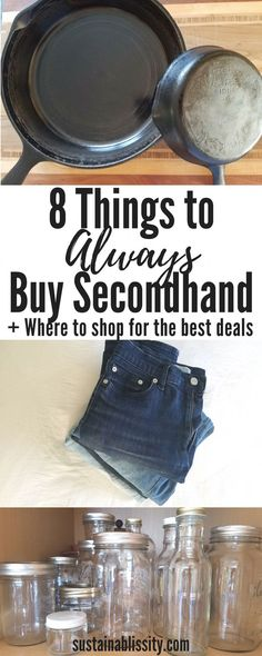 8 Things to Always Buy Secondhand - Sustainablissity - Blaxze . - 8 Things to Always Buy Secondhand - Sustainablissity - Thrift Store Shopping, Thrift Store Crafts, Thrift Store Finds, Shopping Hacks, Thrift Stores, Store Hacks, Frugal Living Tips, Frugal Tips, Money Tips