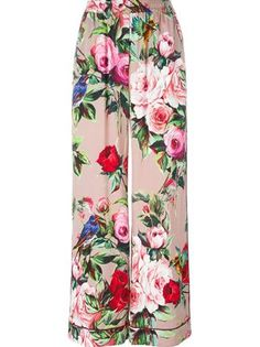 STYLE THE TREND | THECHICITALIAN | How I would style the pyjama and boudoir trend for Spring/Summer 2016 - Dolce & Gabbana printed palazzo pants