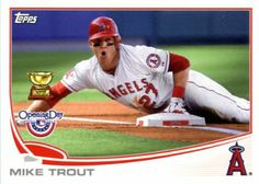 2013 Topps Opening Day Baseball Card # 27 Mike Trout Angels