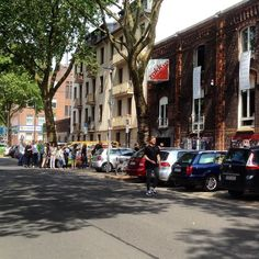 """Ein """"wenig"""" Andrang beim  MAMPF - dem veganen Festival im Zakk :-) #duesseldorf #bilk #urban"""