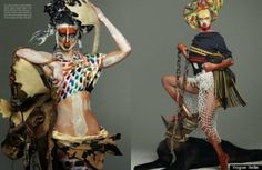 Vogue Italia Insults African Culture With 'Tribal Face' Editorial By Steven Meisel | FashionGHANA.com (100% African Fashion)