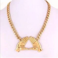 Delta Sigma Theta gold necklace