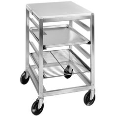Channel 7 Pan End Load Half Height Prep Top Sheet / Bun Pan Rack - Assembled Mobile Work Tables / Can-Storage Racks - BakeDeco. Open Shelving, Adjustable Shelving, Shelves, Can Storage, Storage Racks, Storage Ideas, Rolling Utility Cart, Full Size Sheets, Pan Rack
