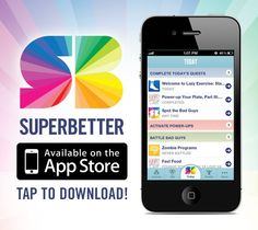 """I'm using this to help me quit smoking and lose weight-it's a game! """"SuperBetter helps you achieve your health goals — or recover from an illness or injury — by increasing your personal resilience."""" Available online and as an app."""