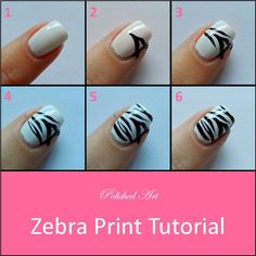 Polished Art: Zebra Print Tutorial