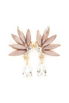 Crystal Butterfly Earrings in Warm Mocha on Emma Stine Limited Bridal Jewelry, Jewelry Box, Jewelry Accessories, Fashion Accessories, Jewelry Design, Fashion Earrings, Fashion Jewelry, Buy Earrings, Earrings Online