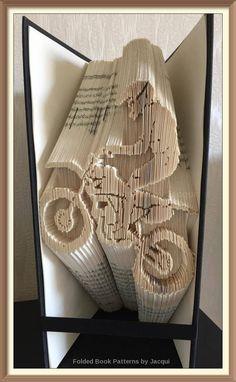 Trial Bike Cut and Fold Book Folding PATTERN by JHBookFoldPatterns on Etsy