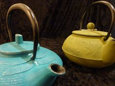 Add some color to your day with these teapots!