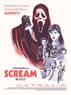 scary movie Scream x : MoviePosterPorn Horror Movie Quotes, Horror Movie Tattoos, Horror Movies Funny, Horror Movie Characters, Horror Books, Horror Font, Slasher Movies, 80s Movie Posters, Horror Movie Posters