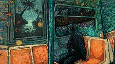 Transitions - James R Eads Illustration & Design Art And Illustration, James R Eads, Watercolor Paper, Van Gogh, Art Forms, Man, Printmaking, Surrealism, Giclee Print