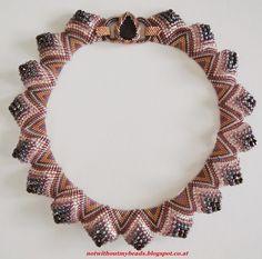 Sculptural Peyote necklace
