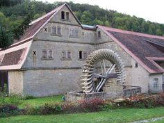 "A mill in the countryside in Germany on the famous ""Romantic Road"""