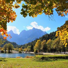 We took this shot yesterday at Lake Jasna in Slovenia. It was a beautiful day